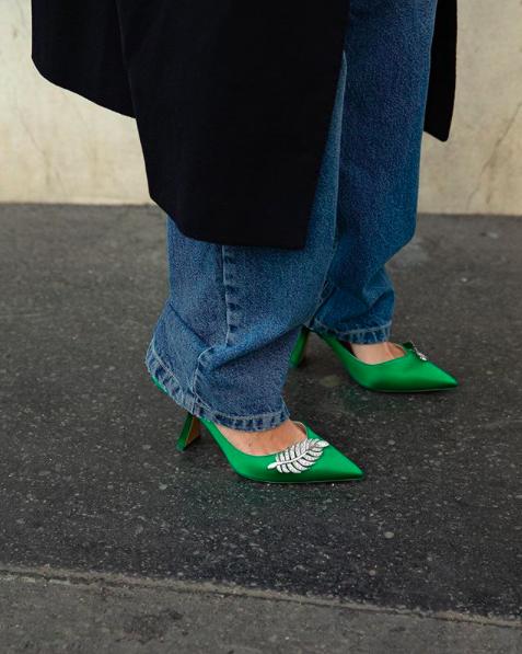 Nicholas Kirkwood green heels