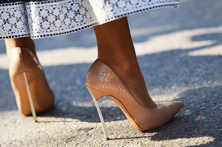 casadei stilettos pic from NobodyKnowsMarc.com Gianluca Senese milan fashion week street