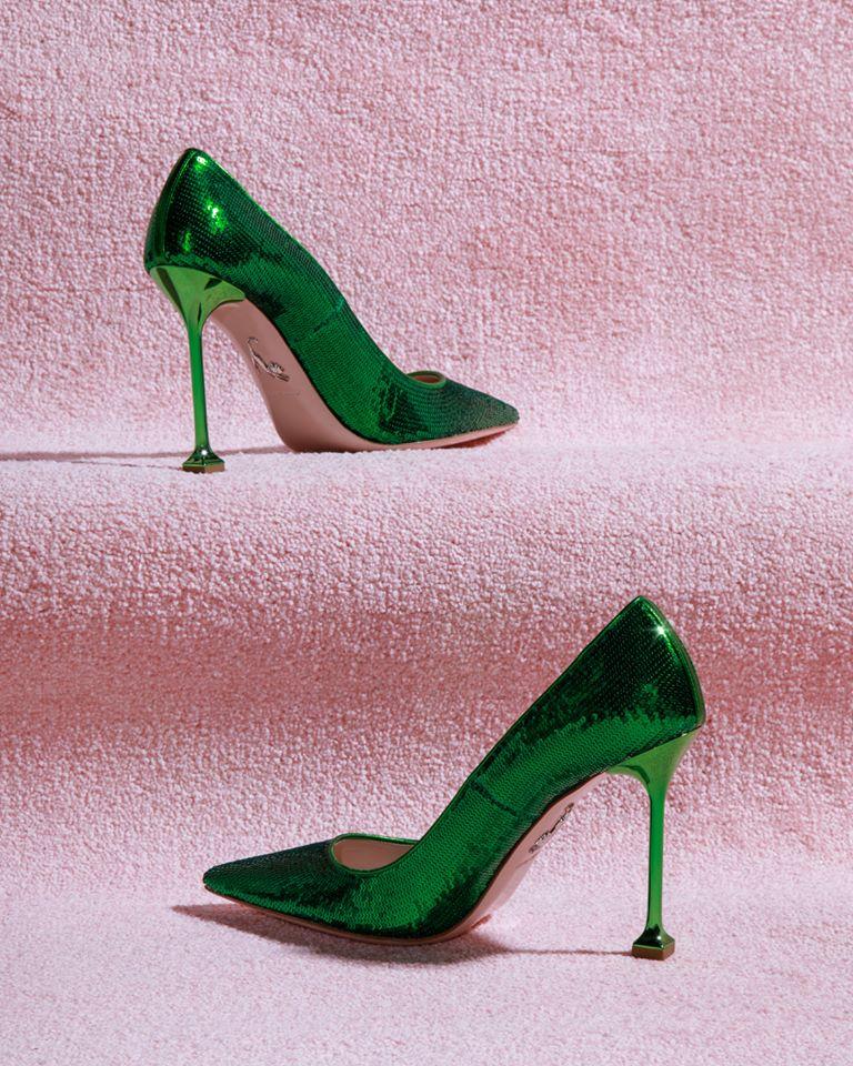 miu miu green stiletto heel