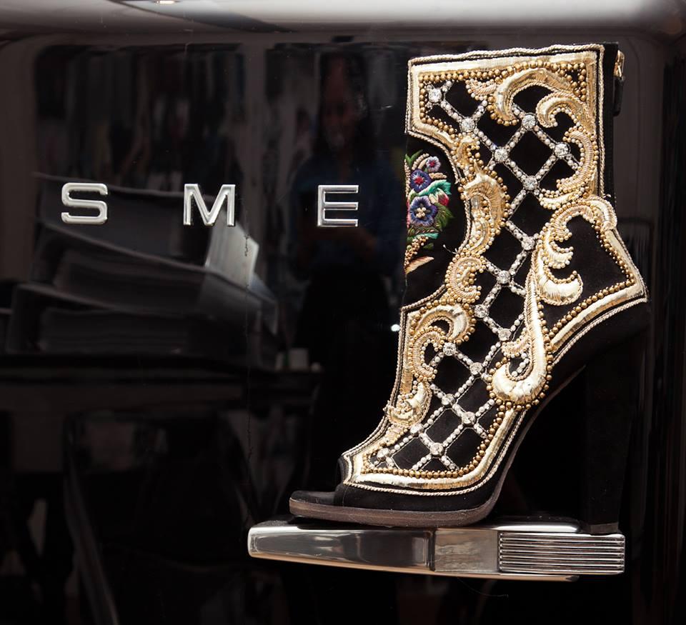peep toe balmain boots coveteur