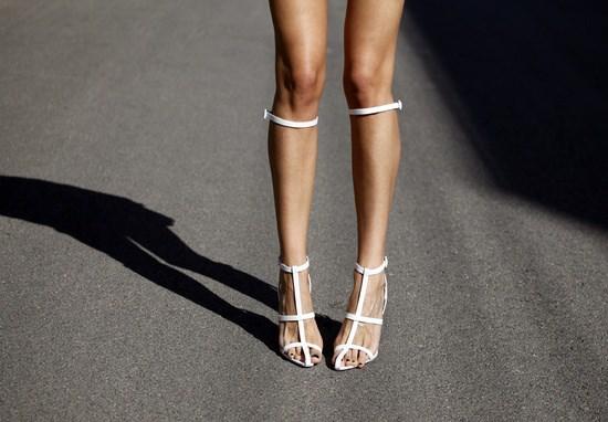 Alexander Wang white stripes
