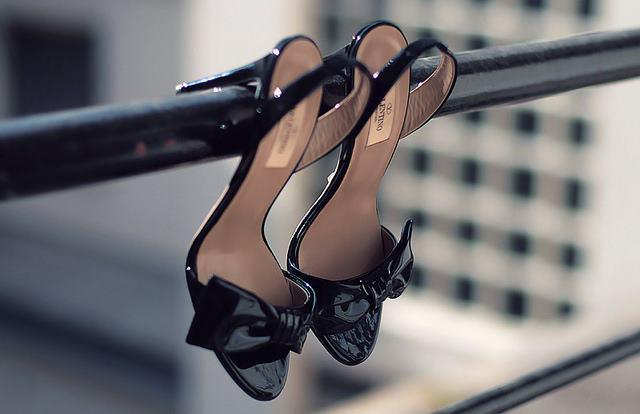 Valentino black cone heels