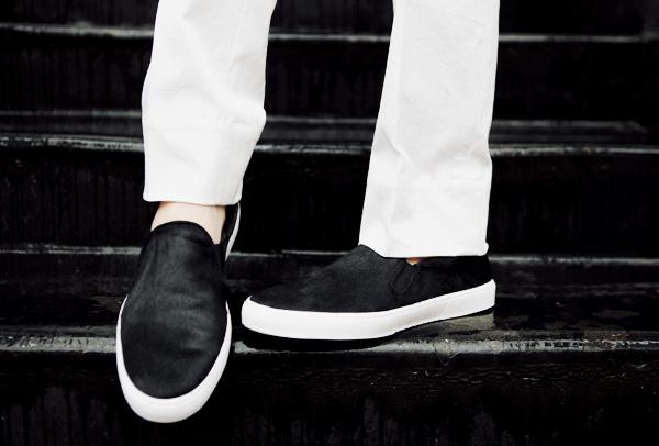 men zara black pony hair shoes