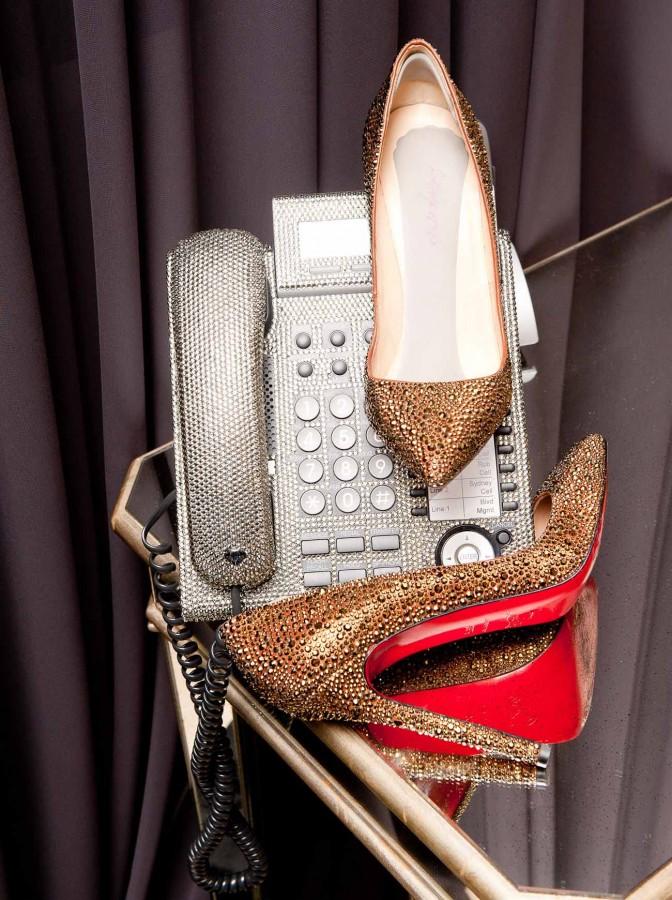 shiny golden louboutin Khloe Kardashian Closet