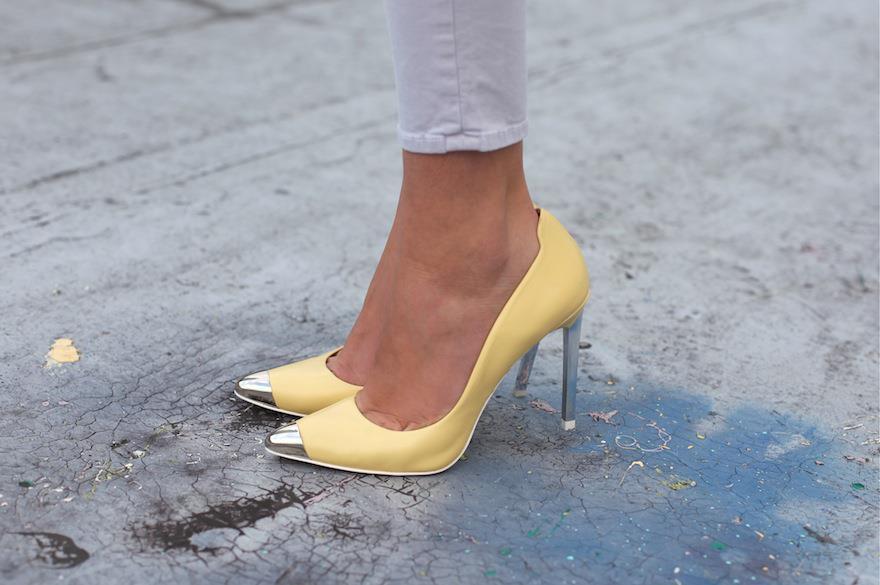 zara yellow pumps