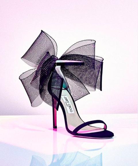 Jimmy Choo Aveline 100 bow high heels