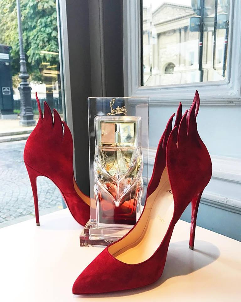 Louboutin fire pumps from chichmuse blog