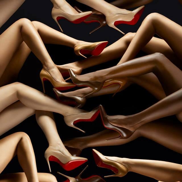 Christian Louboutin nude pumps