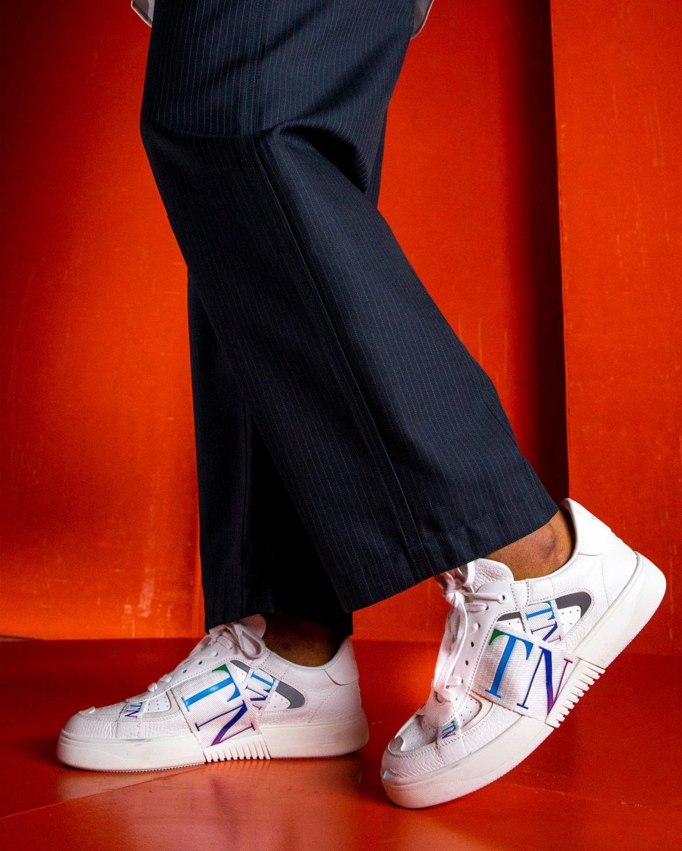 valentino white sneakers